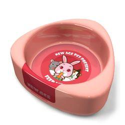 NEW AGE 햄스터 토끼 삼각 먹이그릇 대 핑크 (NA-084)