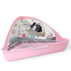 NEW AGE 삼각코너형 토끼 화장실 핑크 (NA-022)