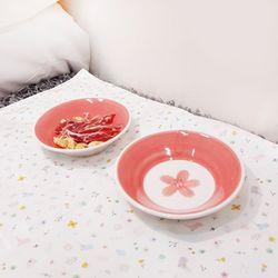 라인벚꽃간식그릇(중)-1구