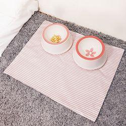 강아지방수식기매트(핑크파도)