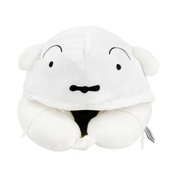 짱구 후드목쿠션 흰둥이 여행 목베개