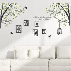 cr216-네츄럴액자와행복한나무2그래픽스티커