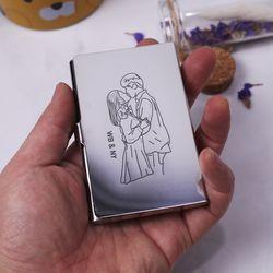 드로잉커스텀각인 리겔 RSM01 명함케이스 카드지갑