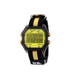 디지털 시계 나토 밴드 옐로우블랙(AG2G9401DAYB)