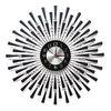 무소음 철제벽시계 블랙&큐빅 B606 인테리어벽시계