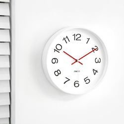 화이트무소음벽시계