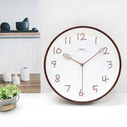 리프무소음벽시계(2color)