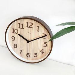 베이직우드무소음벽시계-A