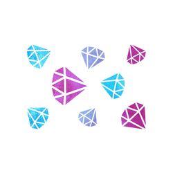 블랭코 스텐실도안524 다이아몬드 패턴(A5)