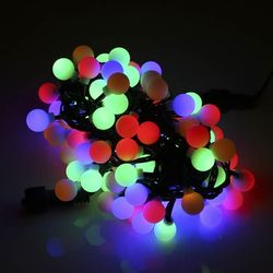 LED볼(앵두) 100구 4색 연결형 크리스마스 트리 조명천지