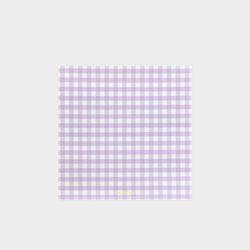 GINGHAM MEMO PAD - Lavender