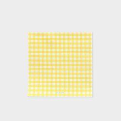 GINGHAM MEMO PAD - Lemon