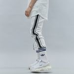 DOUBLE LINE SWEAT JOGGER PANTS WHITE