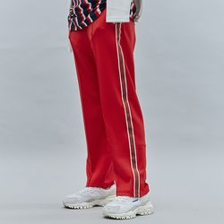 LINE TAPE TRACK PANTS RED