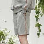 side kink shorts (gray)