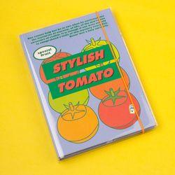 A5 하드 육공 모눈 노트 - 후르츠시리즈-03 Tomato 토마토