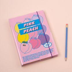 A5 하드 육공 모눈 노트 - 후르츠시리즈-04 Peach 피치