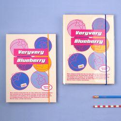 A5 하드 육공 모눈 노트 - 후르츠시리즈-05 Blueberry 블루베리
