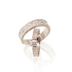393 CLASSIC CELEBRATION RINGS-WHITE GOLD