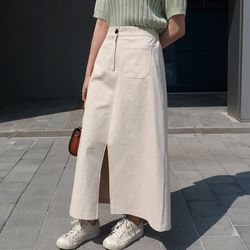 From cotton long skirt