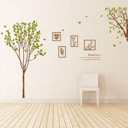 ph400-모던프레임과봄나무그래픽스티커
