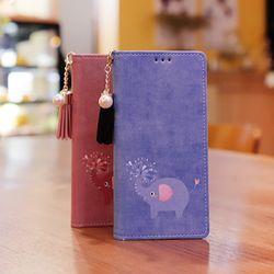 아이폰6s플러스 Ventosa-Elefante-T 수제 지갑 다이어리 케이스