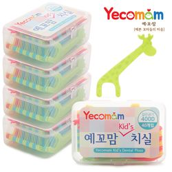예꼬맘 유아치실 키즈 어린이용 치과치실 40개입 케이스형 x 5개