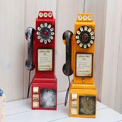 레트로 전화기 인테리어소품 미니어처 장식소품