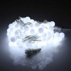 LED트리 볼앵두 투명선 100구 주광색 연결형