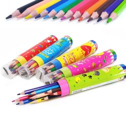육각12색색연필 색상랜덤