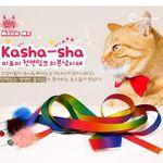 미요미 천연밍크 리본 고양이 낚시대색상랜덤 고양이 장난감