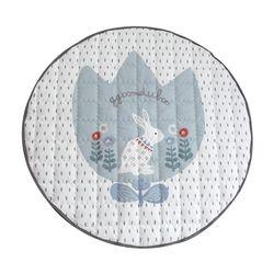 꿈두부 토끼 디자인 아이방 인테리어 원형 유아러그 민트