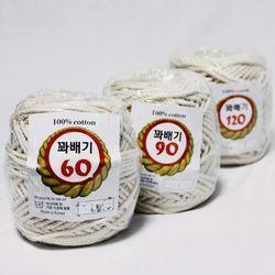 60합 원사 꽈배기 마크라메 매듭공예 및 각종 공예용로프실