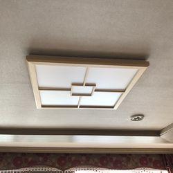 LED방등 편백사각방등 50w