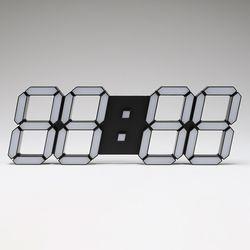 LED벽시계 3D LED 흑색
