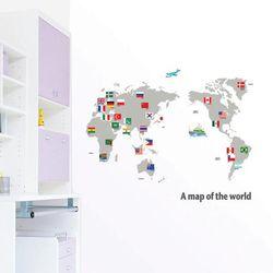 친환경 포인트스티커 세계지도
