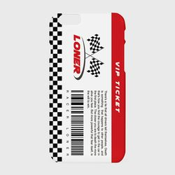 vip ticket case-red
