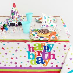 생일파티 테이블보 생일 별