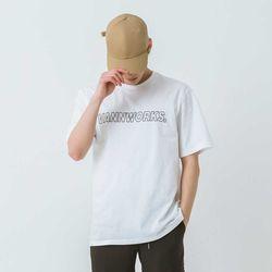 밴웍스 아웃라인 로고 반팔 티셔츠(VNAITS215)