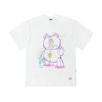 BEAR GANG OVERSIZED T-SHIRTS WHITE