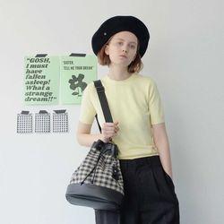 Sister Yoko Bucket Bag (M)(check/black)
