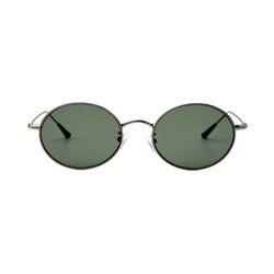 Dominik Silver Dark Green Lens