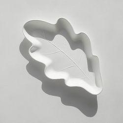 오크잎접시 M 4P (생분해접시)