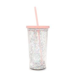 DELUXE SIP SIP TUMBLER WITH STRAW - GLITTER BOMB(텀블러)