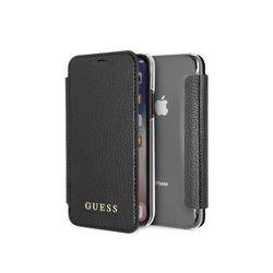 GUESS 게스 아이폰 X XS 로고 북타입 레더 핸드폰케이스