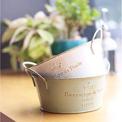 로망띠끄 원형 틴 바스켓-대
