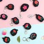 장미 카네이션 벚꽃키링  이름자수 자수열쇠고리
