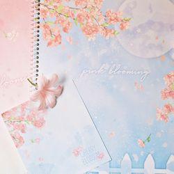 벚꽃 원링 노트(4가지디자인1세트)
