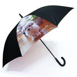 주문제작우산-이쁜 댕댕이-반려견 65멜빵자동 우산