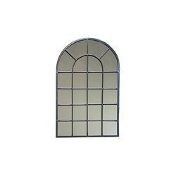 빈티지 컬렉션 창문 거울 - 브라운